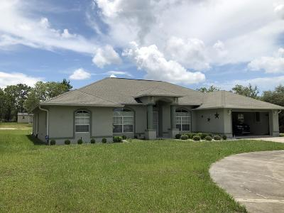 Dunnellon Single Family Home For Sale: 22276 Beach Boulevard