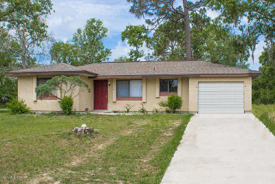 Ocala Single Family Home For Sale: 553 Midway Track Court