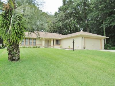 Dunnellon Single Family Home For Sale: 8950 SW 190th Circle