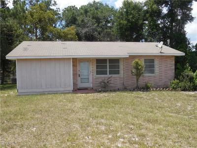 Lake County, Sumter County Single Family Home For Sale: 43535 Bass Lake Lane