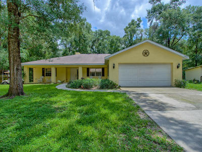 Dunnellon Single Family Home For Sale: 19000 SW 104th Place