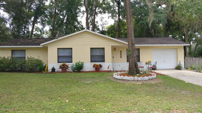 Belleview Single Family Home Pending: 5224 SE 113th Place