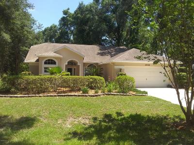 Dunnellon Single Family Home For Sale: 18968 SW SW 98th Place