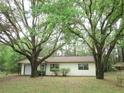 Dunnellon Single Family Home For Sale: 19854 Nightingale Drive