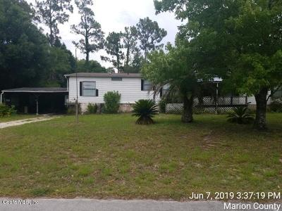 Silver Springs Mobile/Manufactured For Sale: 1843 SE 175th Terrace Road