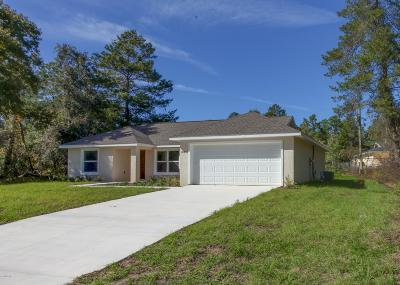 Ocala Single Family Home For Sale: 16838 SW 47 Ave Road