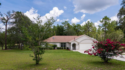 Dunnellon Single Family Home Pending: 13701 SW 81st Street