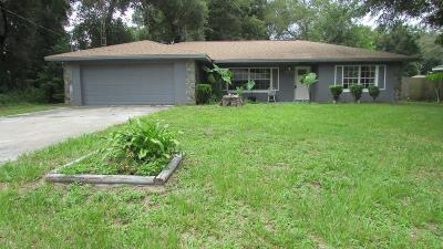 Belleview Single Family Home For Sale: 12205 SE 72 Terrace Road