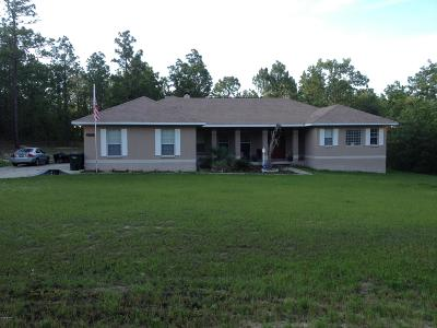 Dunnellon Single Family Home For Sale: 13805 SW 81st Street