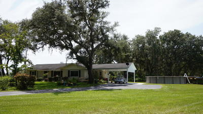 Citra Single Family Home For Sale: 7008 E Hwy 318