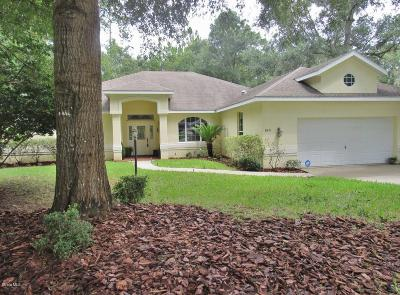Dunnellon Single Family Home For Sale: 8471 SW 196th Avenue Road