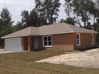 Ocala Single Family Home For Sale: 4373 SW 170th St Road