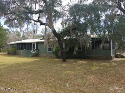 Fort McCoy Single Family Home For Sale: 15980 NE 239th Lane