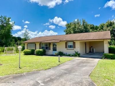 Ocala Single Family Home For Sale: 3160 SW 95th Place