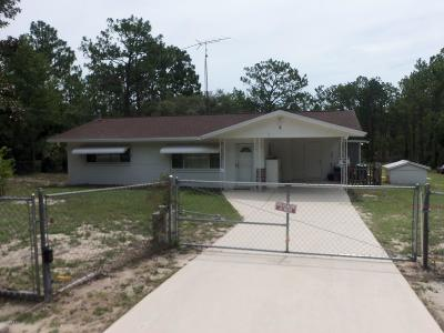 Dunnellon Single Family Home For Sale: 2963 SW Deer Park Heights Road