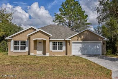Ocala Single Family Home For Sale: 17399 SW 27 Ct Road