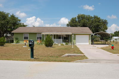 Ocala Single Family Home For Sale: 1102 Hickory Road