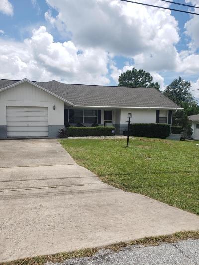 Citrus County Single Family Home For Sale: 96 Sj Kellner Boulevard