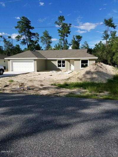Ocala Single Family Home For Sale: 5107 SW 165th Street Road