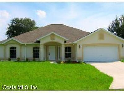 Dunnellon Single Family Home For Sale: 13460 SW 111th Lane