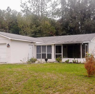 Dunnellon Single Family Home For Sale: 20582 SW Marine Boulevard