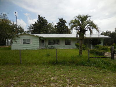 Dunnellon Single Family Home For Sale: 13490 SE 110th Place