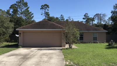 Ocala Single Family Home For Sale: 15605 SW 37th Circle