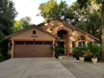 Dunnellon Single Family Home For Sale: 8185 SW 203rd Court