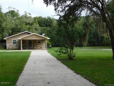 Citrus County Single Family Home For Sale: 3791 E Riverside Drive