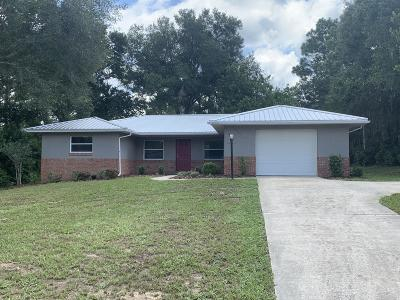 Dunnellon Single Family Home For Sale: 8485 SW 203rd Court