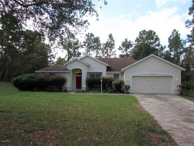 Dunnellon Single Family Home For Sale: 20970 SW 82nd Place