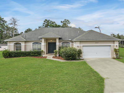 Ocala Waterway Single Family Home For Sale: 4867 SW 103rd Place