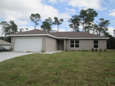 Marion Oaks North, Marion Oaks Rnc, Marion Oaks South Single Family Home For Sale: 3390 SW 126th Lane Road