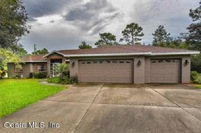 Dunnellon Single Family Home For Sale: 7065 N Tallwood Drive