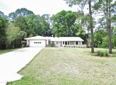 Dunnellon Single Family Home For Sale: 8550 SW 196th Avenue Road