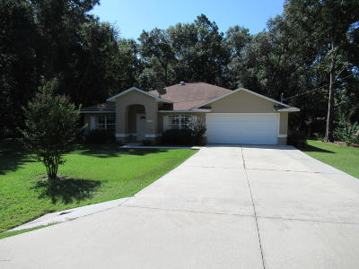Dunnellon Single Family Home For Sale: 20190 SW 77th Street