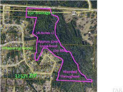 Pace Residential Lots & Land For Sale: 56acres Berryhill Rd