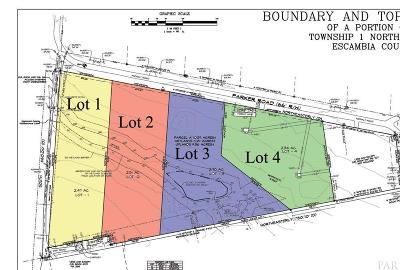 Cantonment Residential Lots & Land For Sale: 1509 Parker Rd #LOT 3