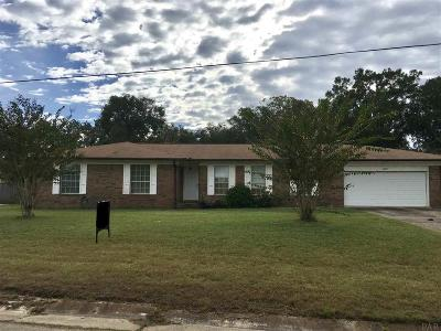Pensacola Single Family Home For Sale: 10855 Berryhill Rd