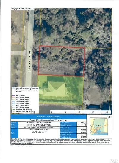 Pace Residential Lots & Land For Sale: 4032 Highland Blvd