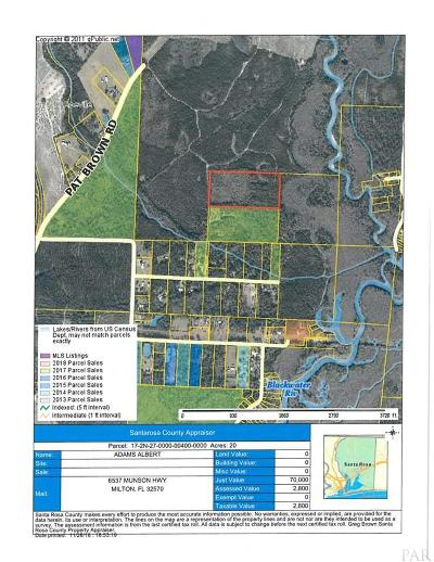 Milton Residential Lots & Land For Sale: Bucket Creek Rd