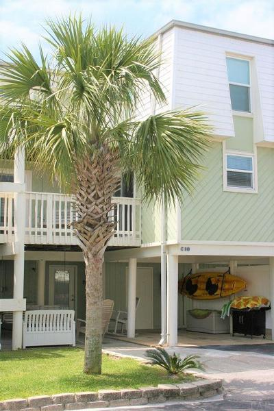 Pensacola Beach Condo/Townhouse For Sale: 1100 Ft Pickens Rd #C-10