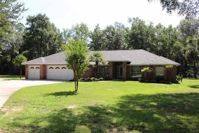 Milton Single Family Home For Sale: 6536 Tonya Dr