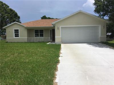Sebastian Single Family Home For Sale: 341 Fleming Street