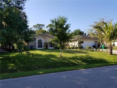 Sebastian Single Family Home For Sale: 507 Albatross Terrace