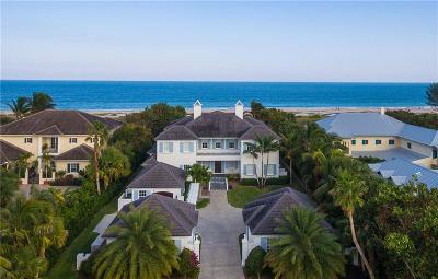 Vero Beach, Indian River Shores, Melbourne Beach, Sebastian, Palm Bay, Orchid Island, Micco, Indialantic, Satellite Beach Single Family Home For Sale: 1804 Ocean Drive