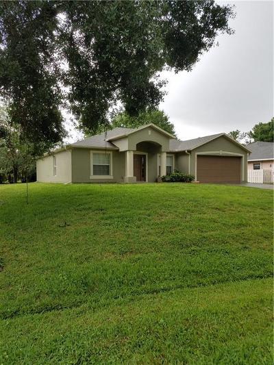 Sebastian Single Family Home For Sale: 557 Browning Terrace