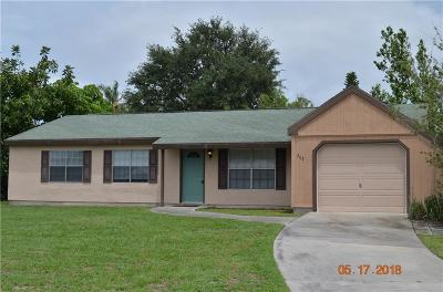 Sebastian FL Single Family Home For Sale: $164,000