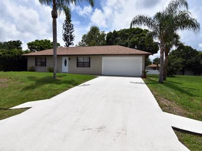 Sebastian FL Single Family Home For Sale: $199,900