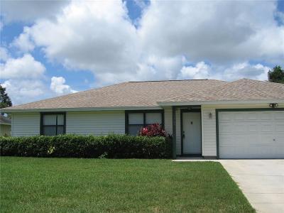 Sebastian FL Single Family Home For Sale: $199,000